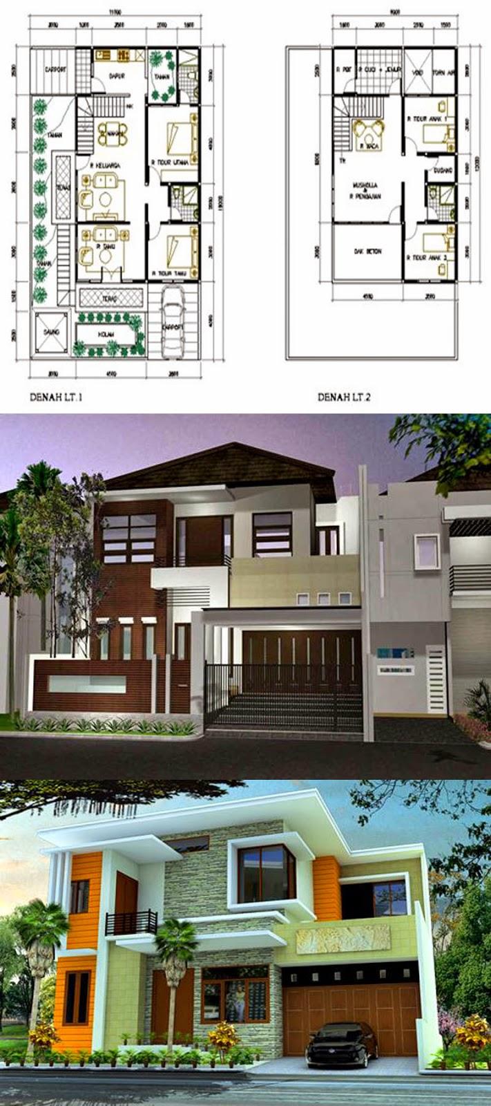 Kumpulan Desain Rumah Minimalis Modern Contoh Desain Denah Dan