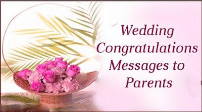 wedding congratulations messages to parents of bride