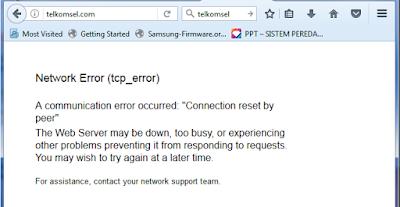 Network errol Halaman situs telkomsel