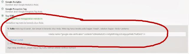 Tag HTML yang di pasang pada Template Blog