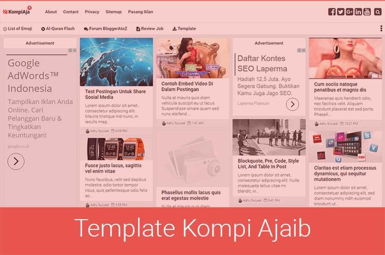 Kompi Ajaib Blogger Template