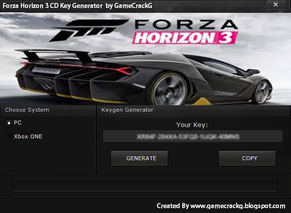 license key for forza horizon 3