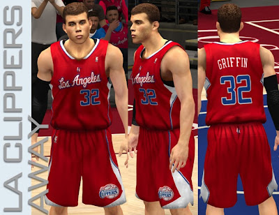 NBA 2K13 L.A. Clippers Red Away Jersey Patch