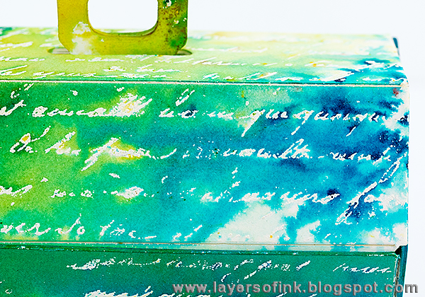 Layers of ink - Ten Minute Watercolour Gift Box Tutorial with Eileen Hull's Toolbox die and Brusho crystals.