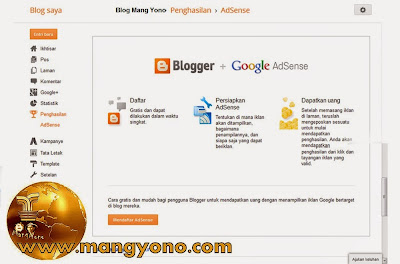 Agar blogg cepat diterima Google Adsense