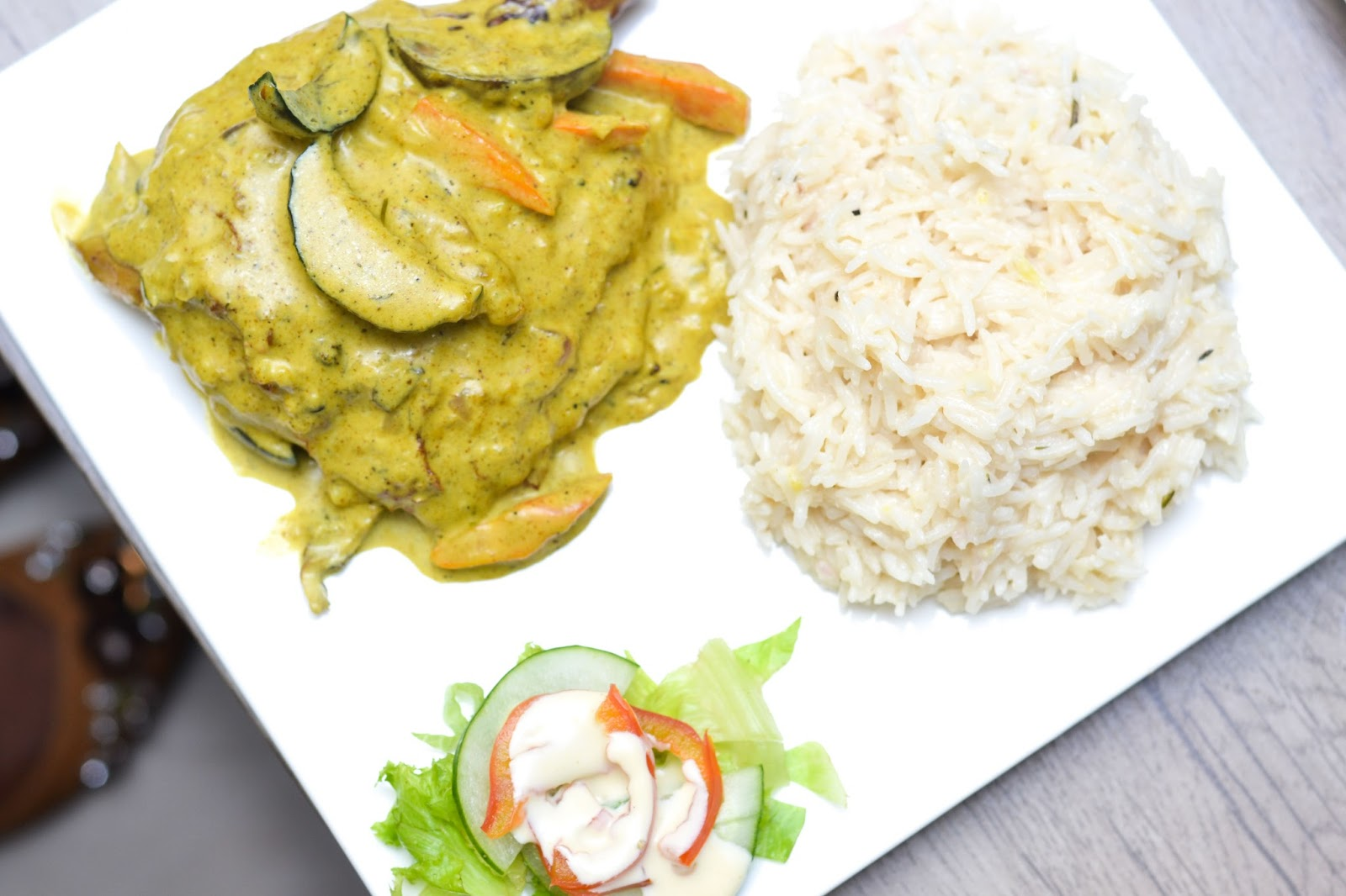 Coconut Rice & Chicken Curry in Nigeria