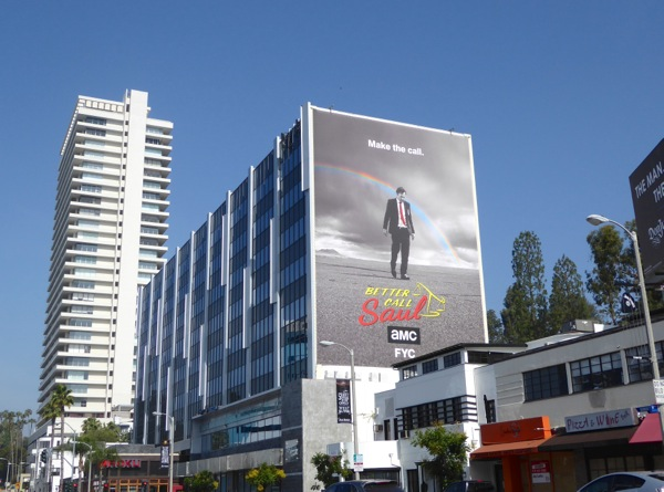 Giant Better Call Saul 2016 Emmy billboard Sunset Strip