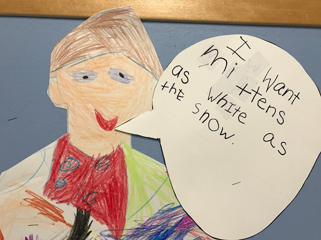 interactive writing the mitten