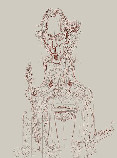 Steve Vai caricature