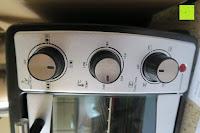 Regler: Andrew James – 23 Liter Mini Ofen und Grill mit 2 Kochplatten in Schwarz – 2900 Watt – 2 Jahre Garantie