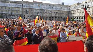 milliers de manifestants pour défendre l'unité de l'Espagne