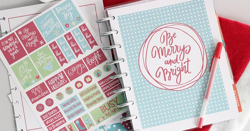 photograph relating to Diy Planner Printables called How toward Crank out a Do it yourself Xmas Content Planner (with Printables