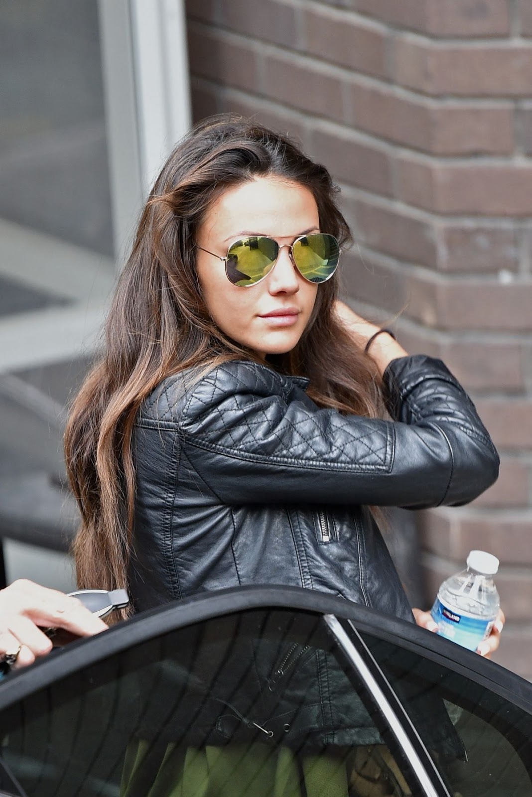 HD Photos of Michelle Keegan with Sunglasses Leaves A-Studio In London