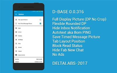 BBM DELTA 0.0.316 Base BBM V3.3.0.16 Apk Full Terbaru 2017