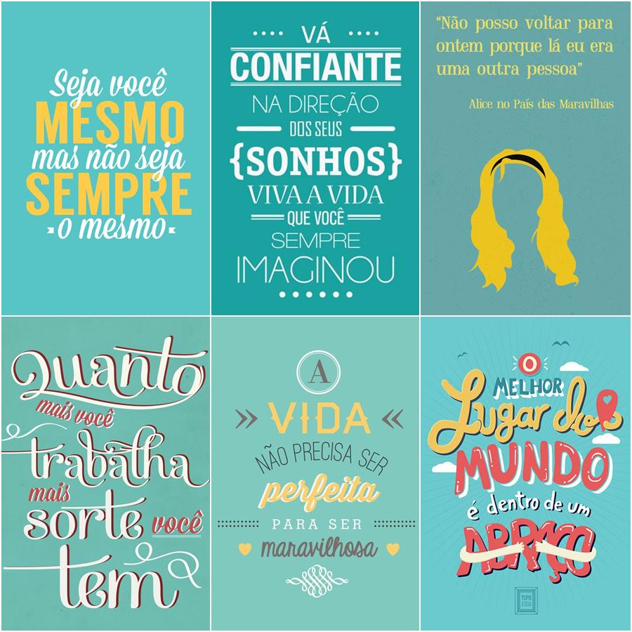 Decoração Posters Com Mensagens Inspiradoras Gaby Dahmer
