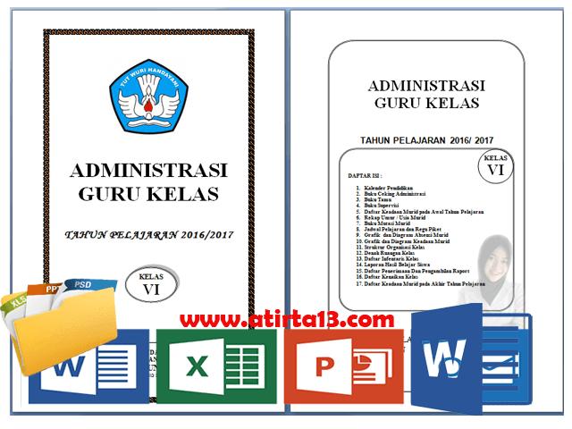 Administrasi Guru Kelas SD/MI Lengkap Terbaru