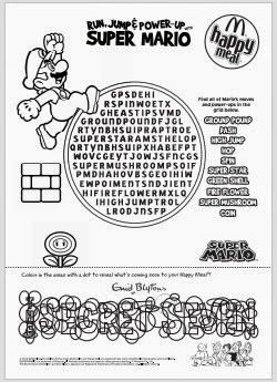 Super Mario Word Search PDF