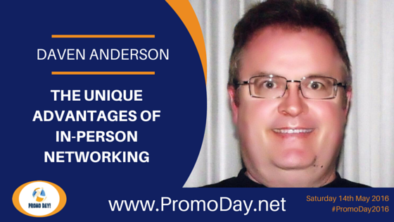 Daven Anderson to Present Webinar at #PromoDay2016