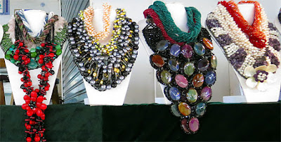 colorful beads and balls necklaces