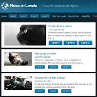 Noticias para aprender inglés - News in levels