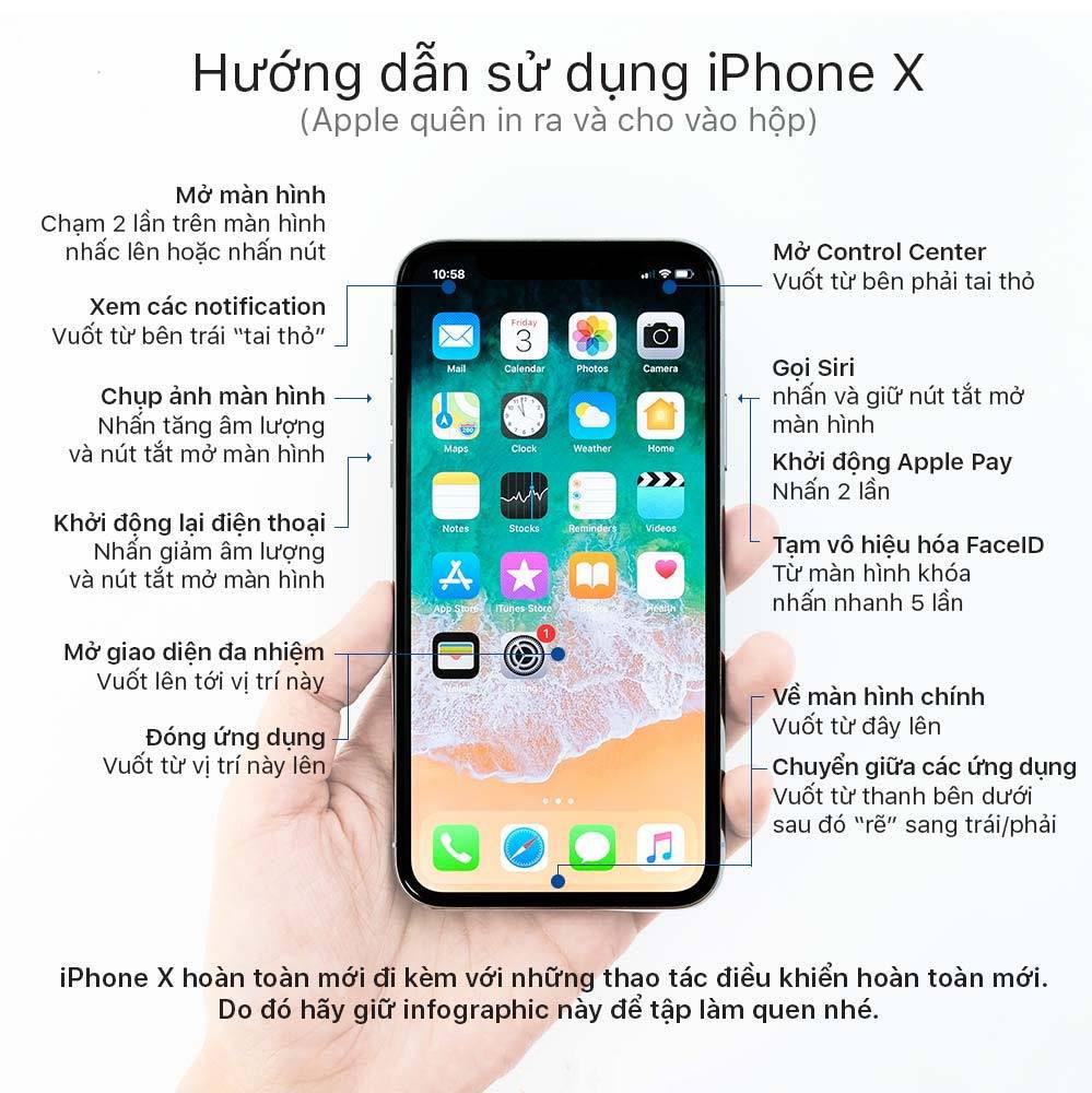 HƯỚNG DẪN SỬ DỤNG IPHONE X  CHO NGƯỜI MỚI DÙNG