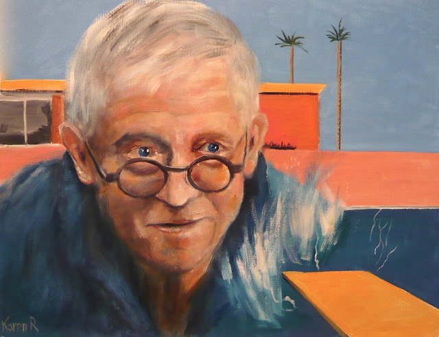 David Hockney and Splash - a piece of fan art