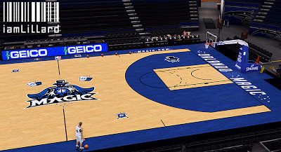 NBA 2K13 Orlando Magic New Court Update Patch