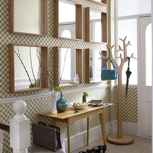 decoração de hall com espelho, hall de entrada , hall de entrada de casas ou apartamentos
