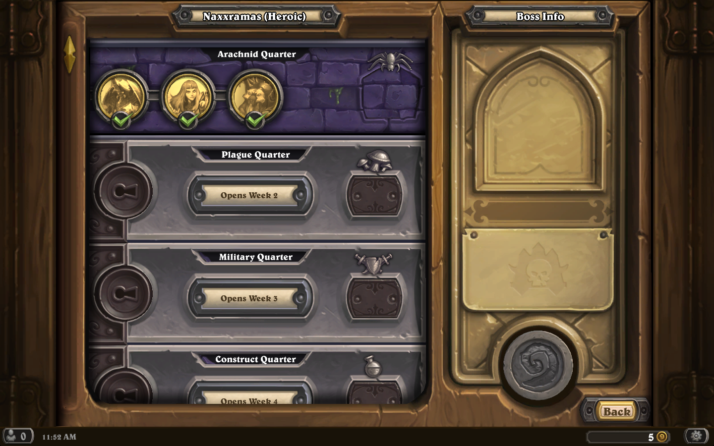 Blizzard Hearthstone Curse of Naxxramas all challenges complete