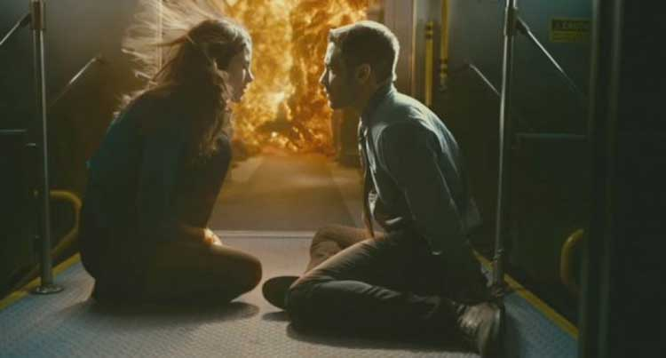 Michelle Monaghan and Jake Gyllenhaal face down the fire in Source Code.