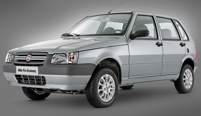 O modelo Fiat Uno Mille Economy (2011) é campeão de consumo de combustível.