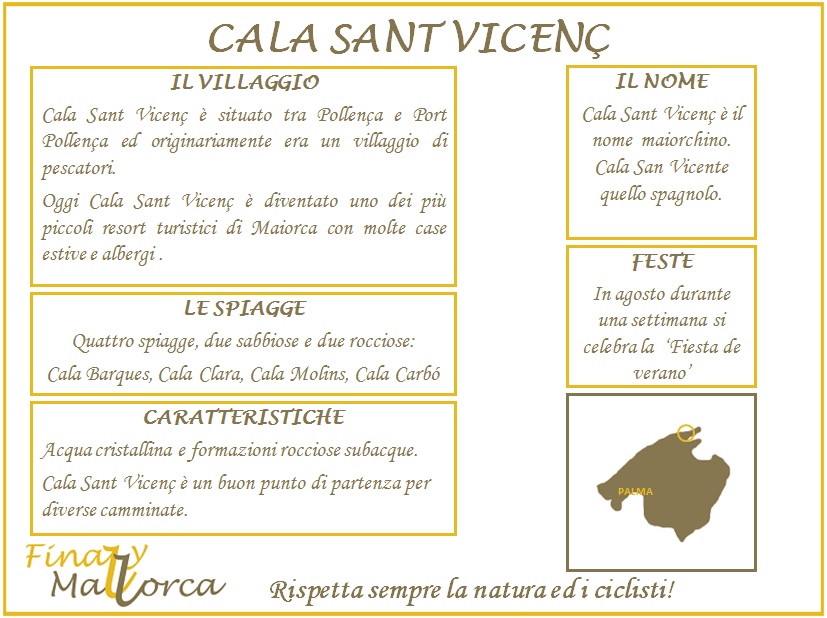 Cala Sant Vicenc, scheda informativa