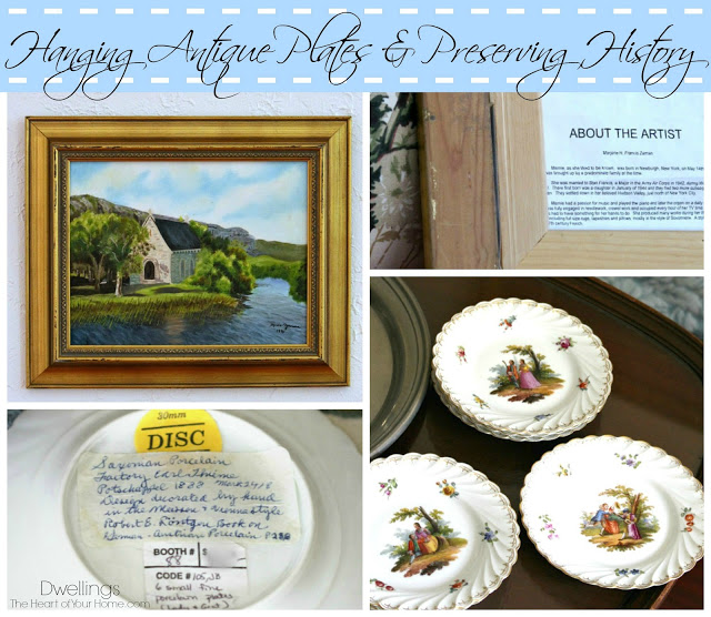 Antique Plates- Dwellings-Weekly Blog Link Up Party- Treasure Hunt Thursday- From My Front Porch To Yours