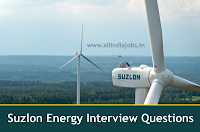 Suzlon Enery Interview Questions