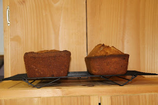 Banana bread leavening comparison: calcium carbonate and baking soda