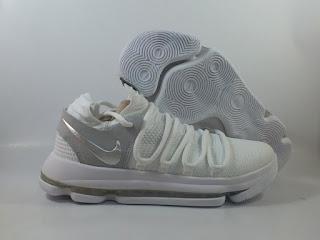 Nike KD 10 - White Chrome