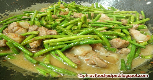 Ginataang Sitaw With Pork (String Beans Cooked In Coconut Milk) Recipe