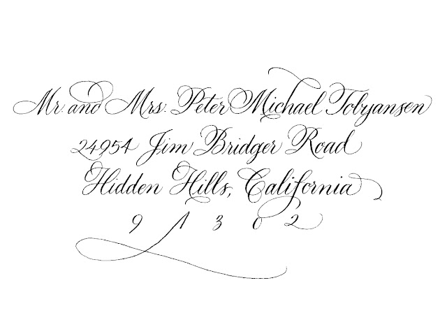 A Place for Lettering: ADDRESSING SAMPLES in CALLIGRAPHY