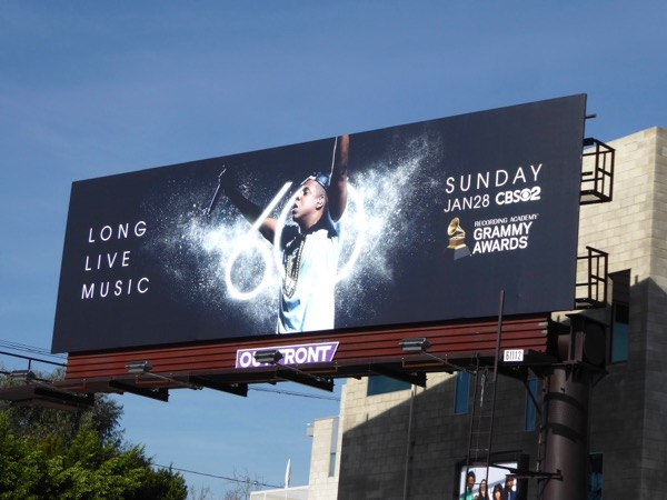 JayZ 60th Grammys billboard