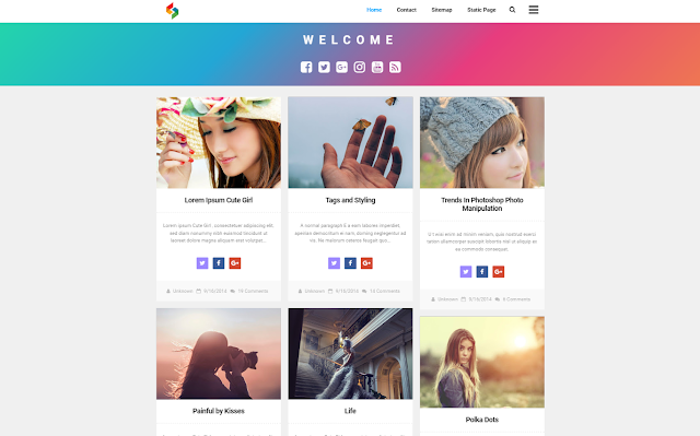 Lycoris New New Responsive Blogger Template