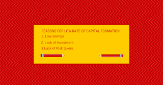 Reasons for low rate of capital formation