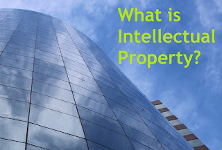 Building with blue sky what is intellectual property