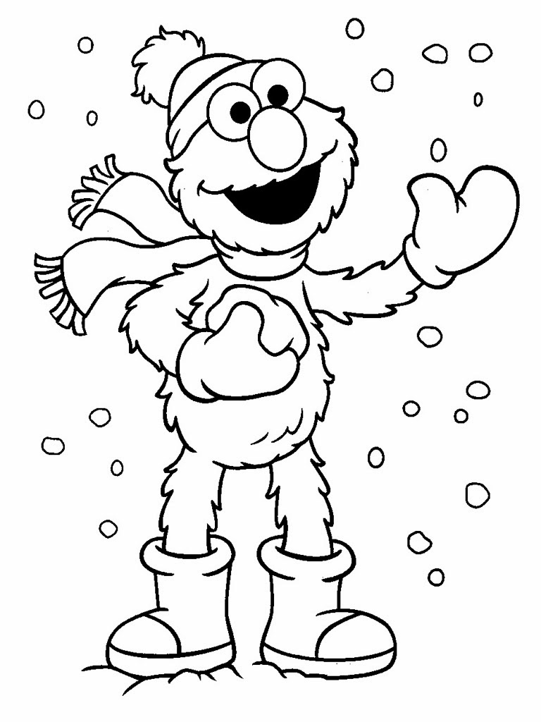 Elmo Christmas Coloring Pages Free Printable