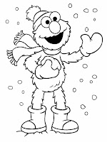 Elmo Christmas Free Printable Coloring Pages
