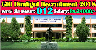 GRI Dindigul Recruitment 2019 12 LDC, MTS Posts