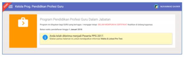 gambar daftar PPG disetujui admin simpkb
