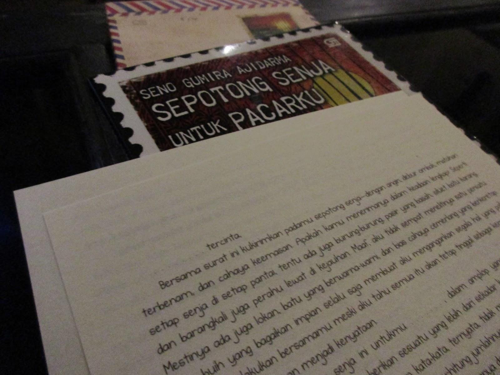 pengirim novel sepotong senja untuk pacarku