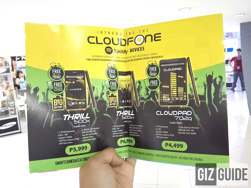 CloudFone Silently Released Their Spotify Series, Comes With Free Spotify Edition Headphones And Earphones!