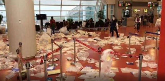 Chinese Tourists Made Korean Airport A Rubbish Dump! Look At This!