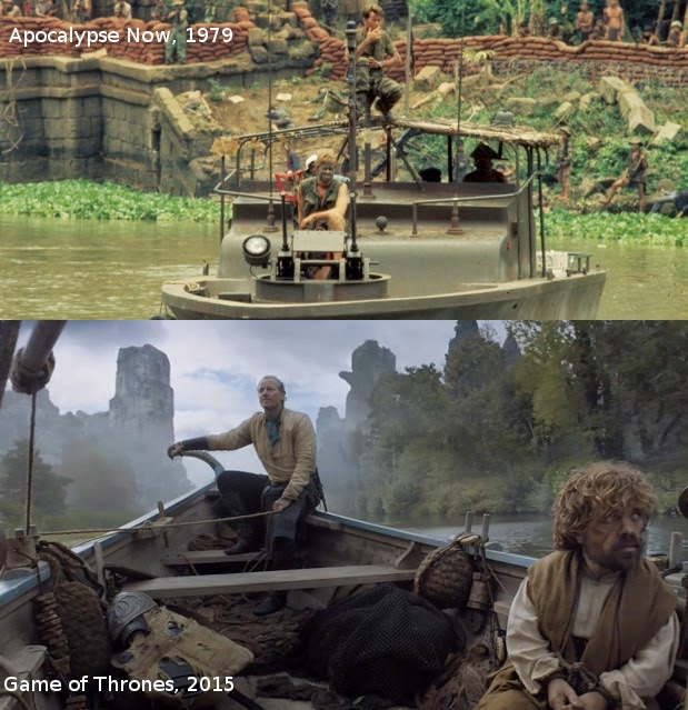 HBO Game of Thrones s05e05: Coincidence resemblance with Apocalypse Now?